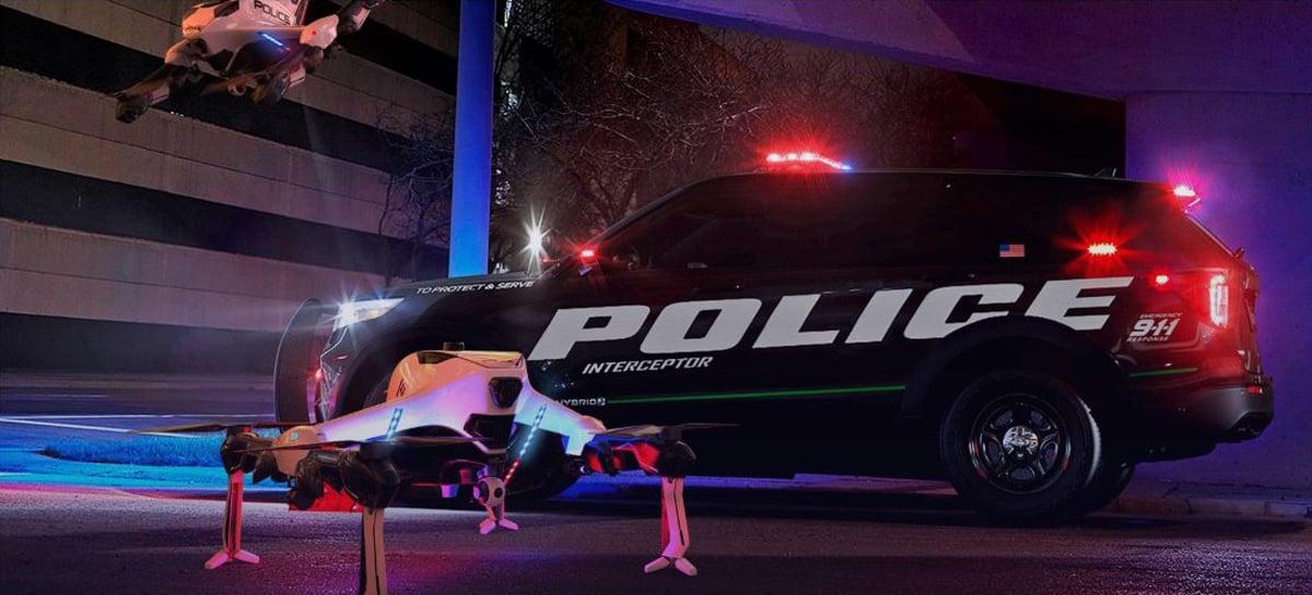 Drone policial voa por até 3 horas, atinge 225 Km/h e se recarrega sozinho