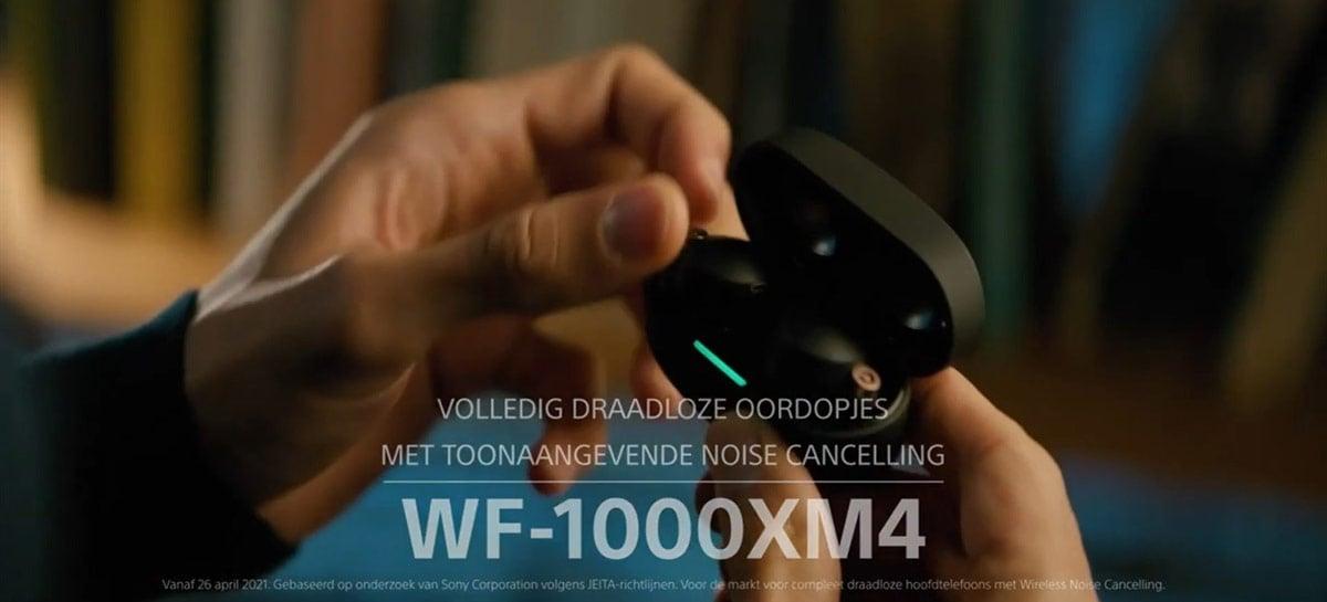 Vídeo dos Sony WF-1000XM4 vaza, revelando tudo sobre os fones