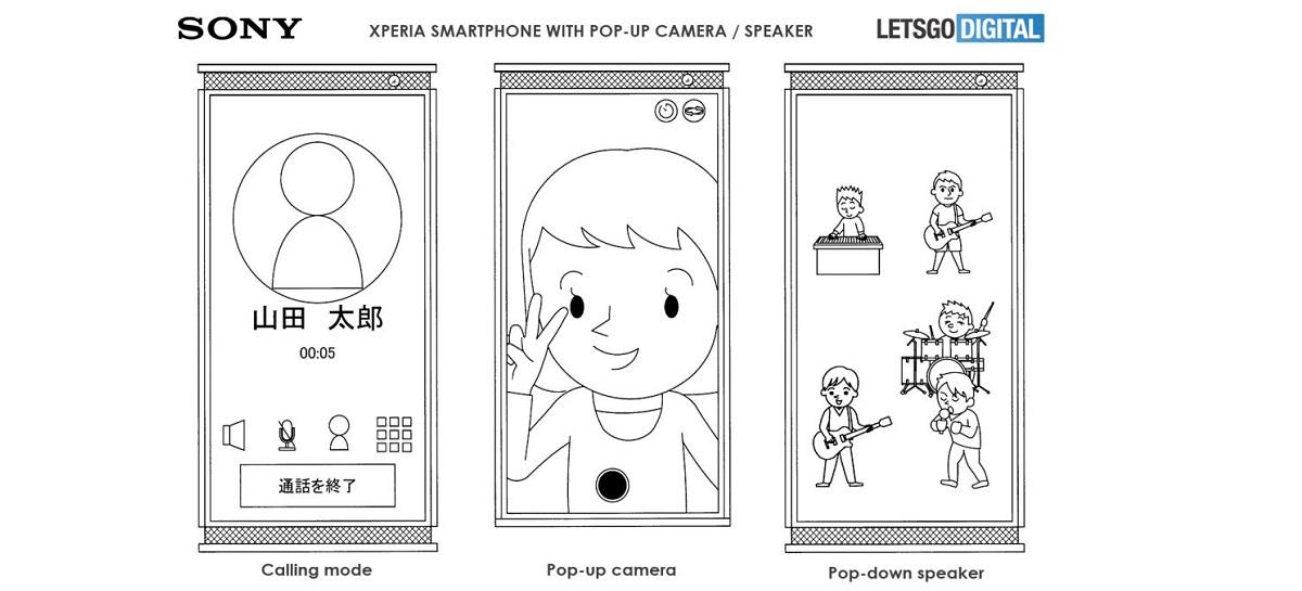 Sony registra patente de celular Xperia com sistema de câmera e som pop-up