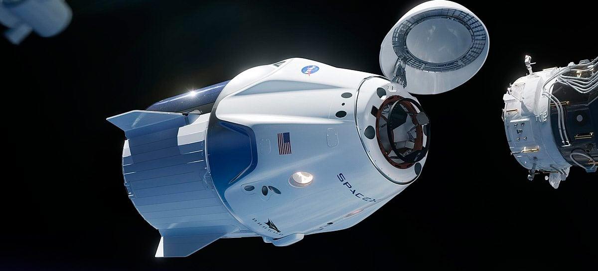 Dragon 2 da Space X deve retornar do espaço apenas depois de julho