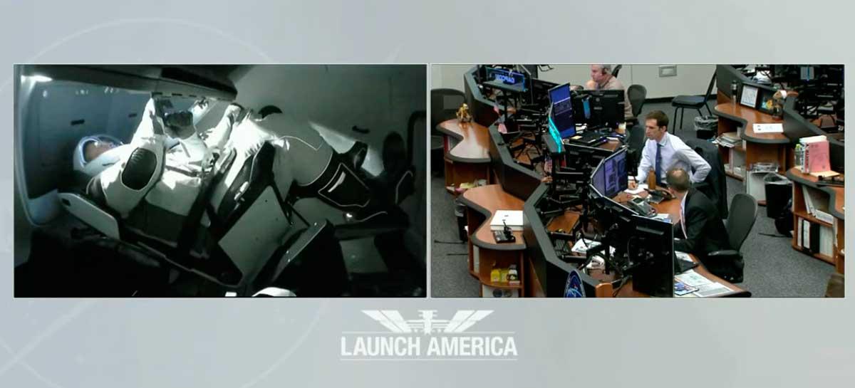 Astronautas da SpaceX acabam de chegar a Estação Espacial Internacional