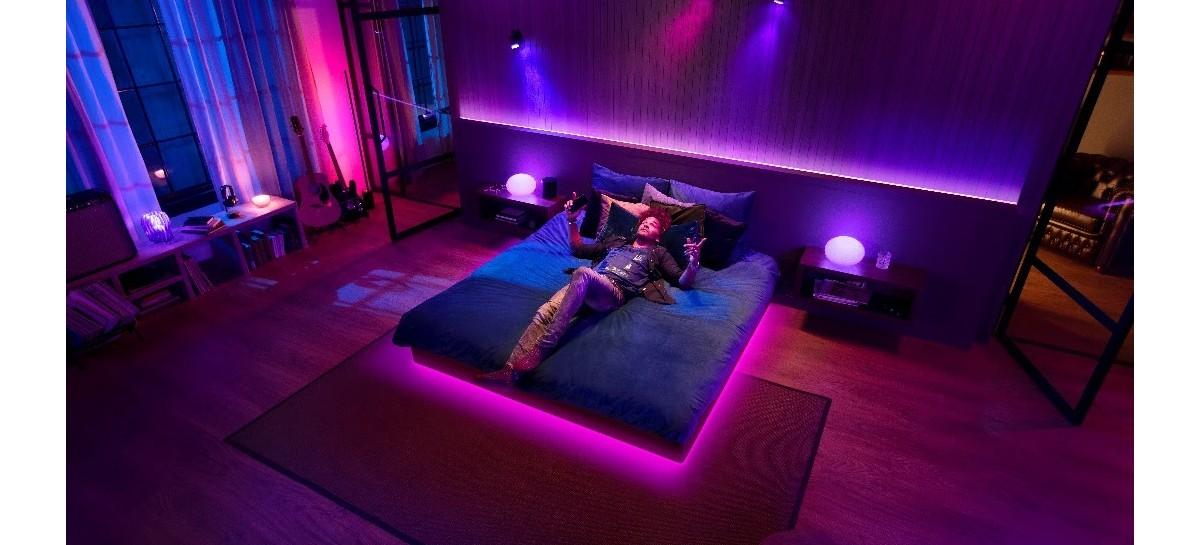 Lâmpadas Philips Hue lights ganham sincronização com o Spotify