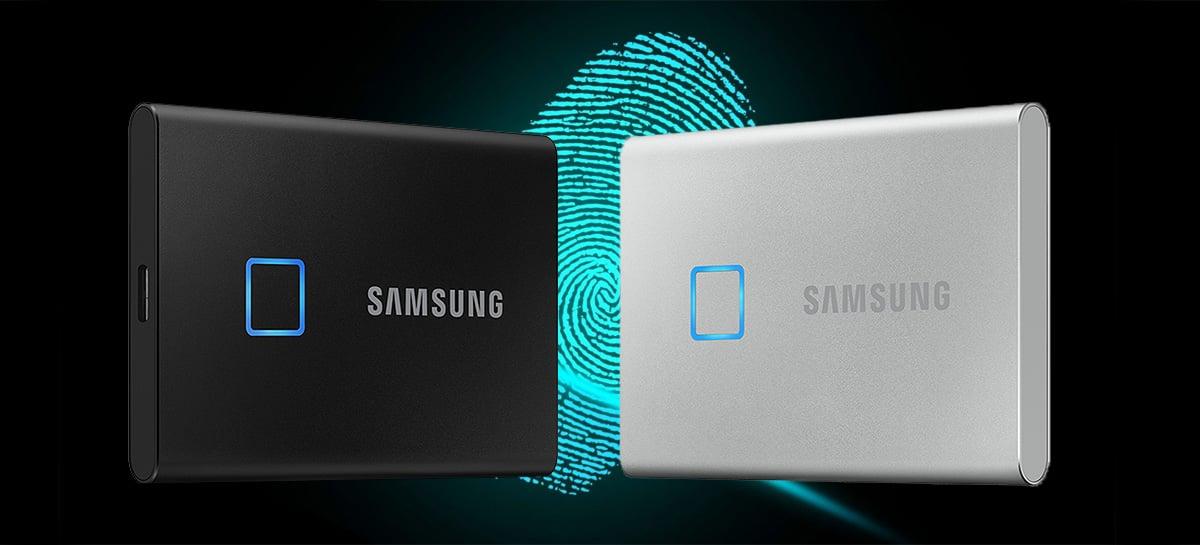 SSD externo da Samsung traz velocidades de até 1.050MB/s e protege seus dados com digital!