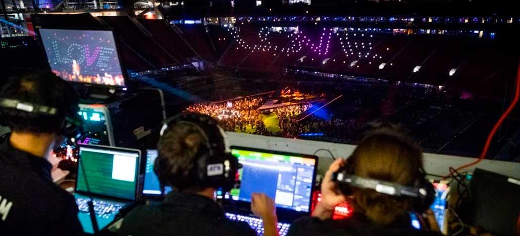 A Intel fez o primeiro drone show ao vivo com luzes durante intervalo do Super Bowl LIII