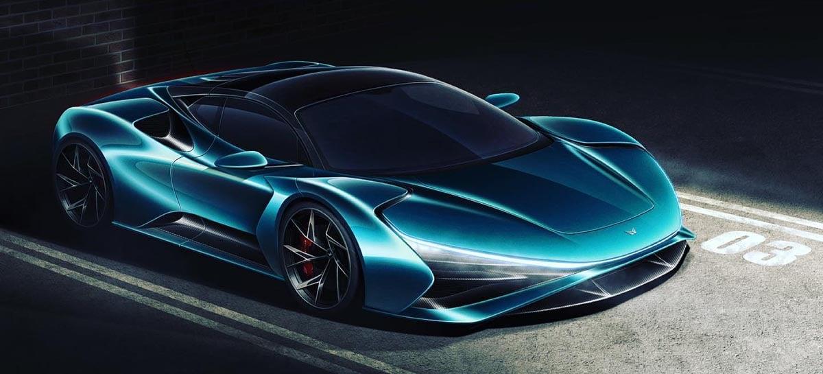 Truva: conheça o carro elétrico alemão de 1400 cv que vale R$ 4 milhões