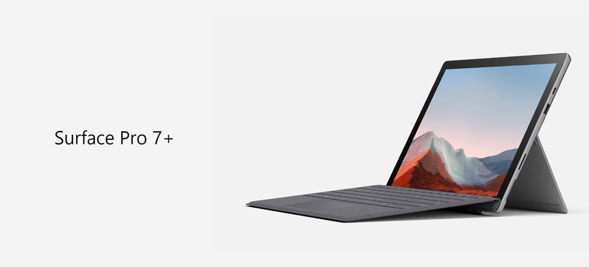 Microsoft lança Surface Pro 7 Plus com bateria maior, SSD removível e 4G
