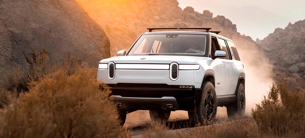 SUV Elétrica da Rivian começará a ser entregue a partir de julho