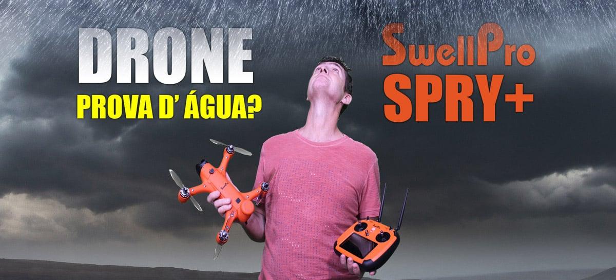 DRONE a PROVA D' ÁGUA com câmera 4K - Conheça o SwellPro SPRY+
