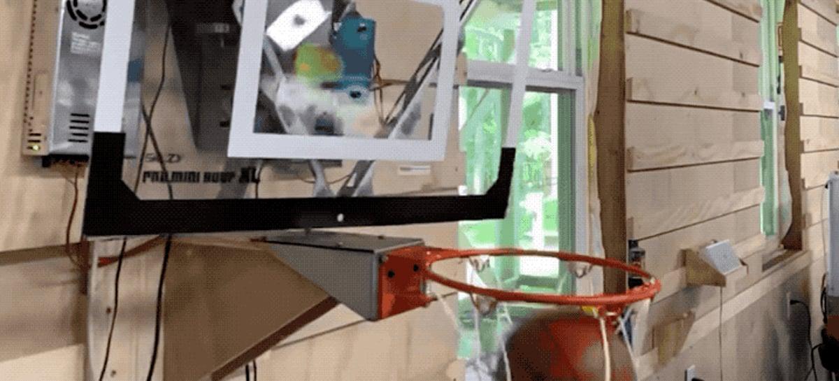 Tabela de basquete robotizada não deixa você errar a cesta