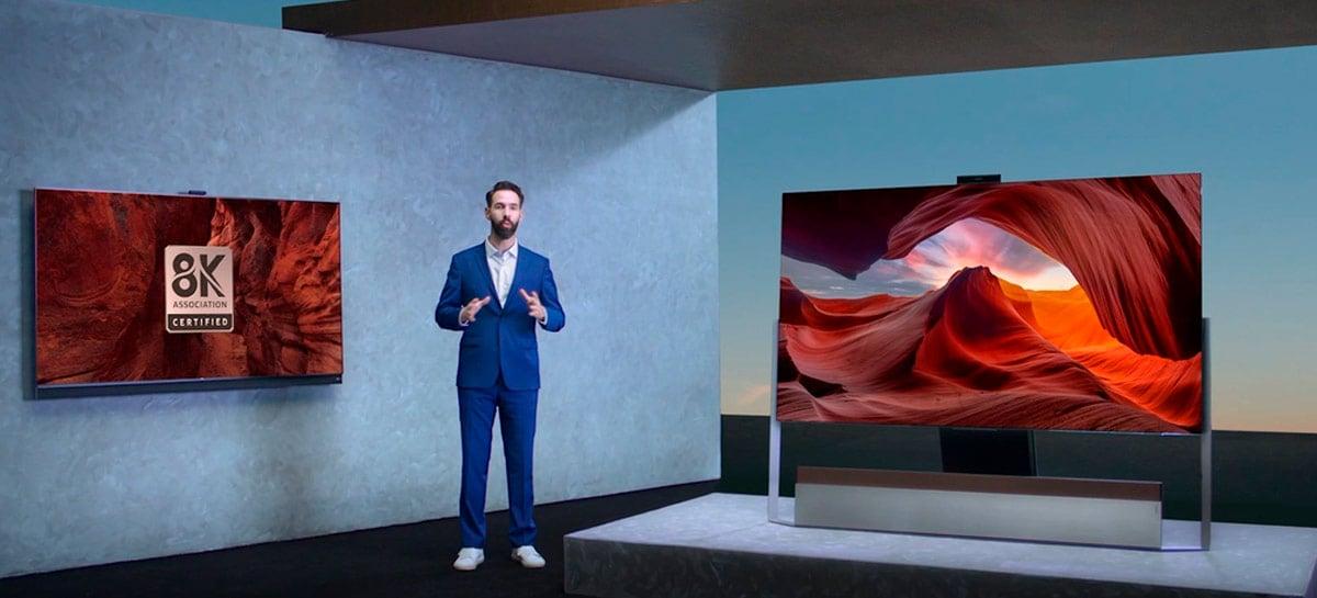 TCL revela novas TVs mini LED 8K com design futurista
