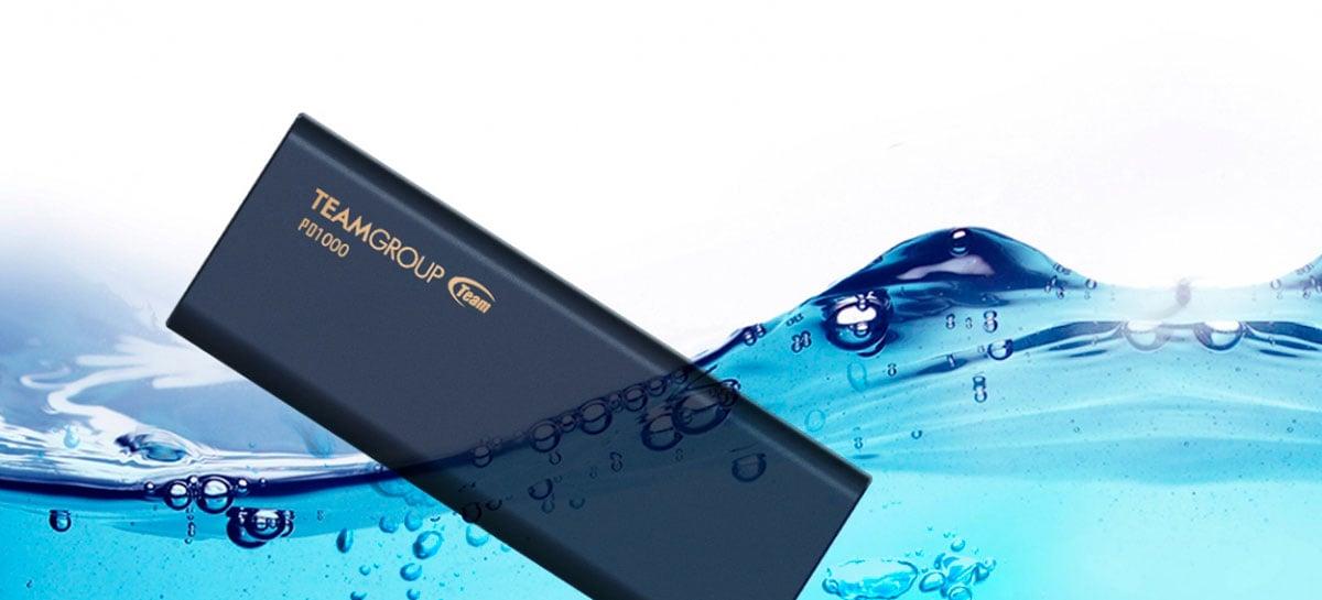 TeamGroup lança SSD portátil resistente contra água e pendrive com design peculiar