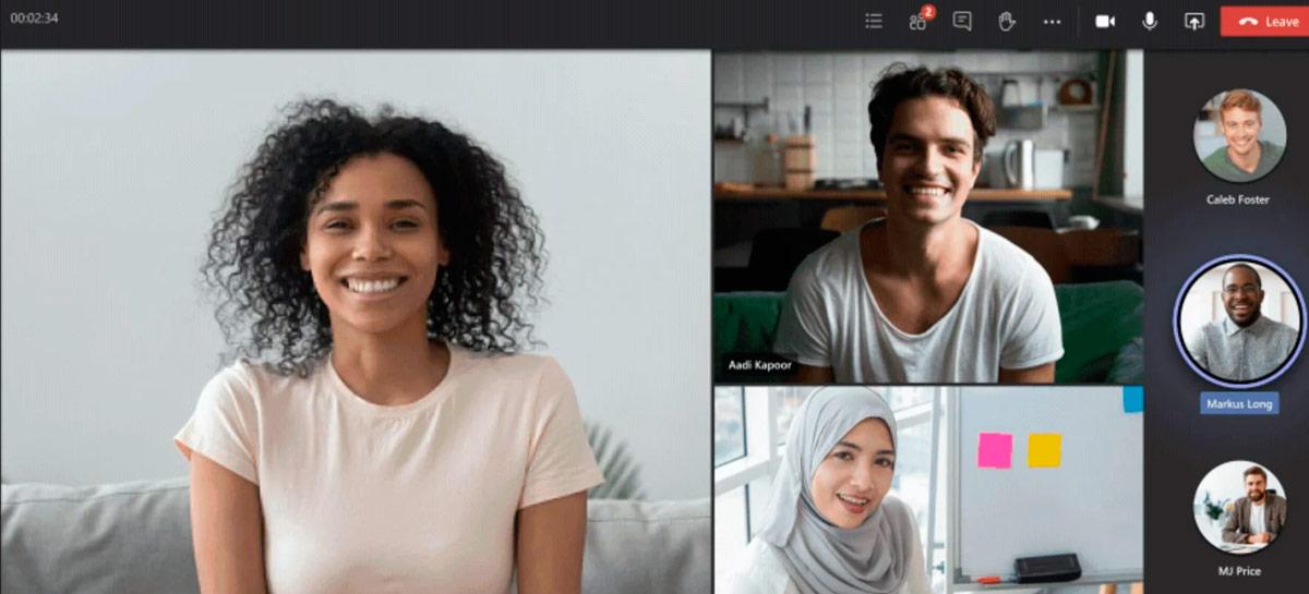 Novo Dynamic View no Microsoft Teams traz mais opções visuais para chamadas