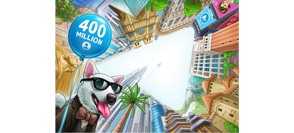 Telegram chega em 400 milhões usuários ativos por mês