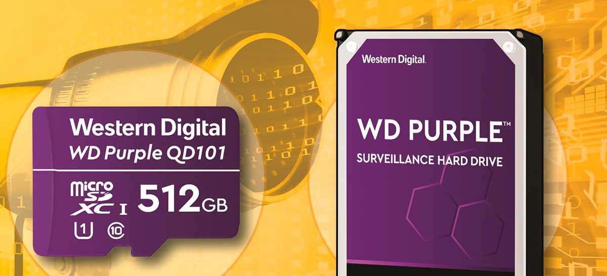 WD anuncia linha WD Purple QD101 de cartões microSDXC com até 512GB