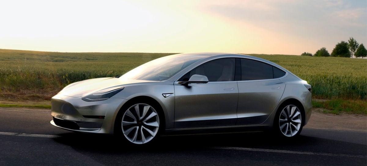 Tesla Model 3 2021 deve oferecer maior alcance e outras novidades