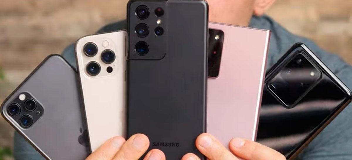 Galaxy S21 Ultra ganha teste de bateria com S20 Ultra, Note20 Ultra e iPhone 12 Pro Max