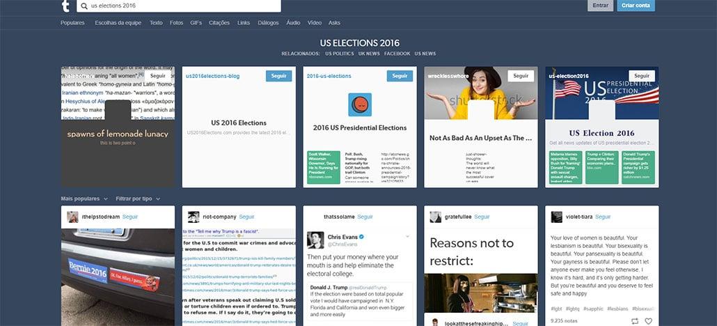 Tumblr confirma que 84 contas eram fakes russos para influenciar eleições dos EUA