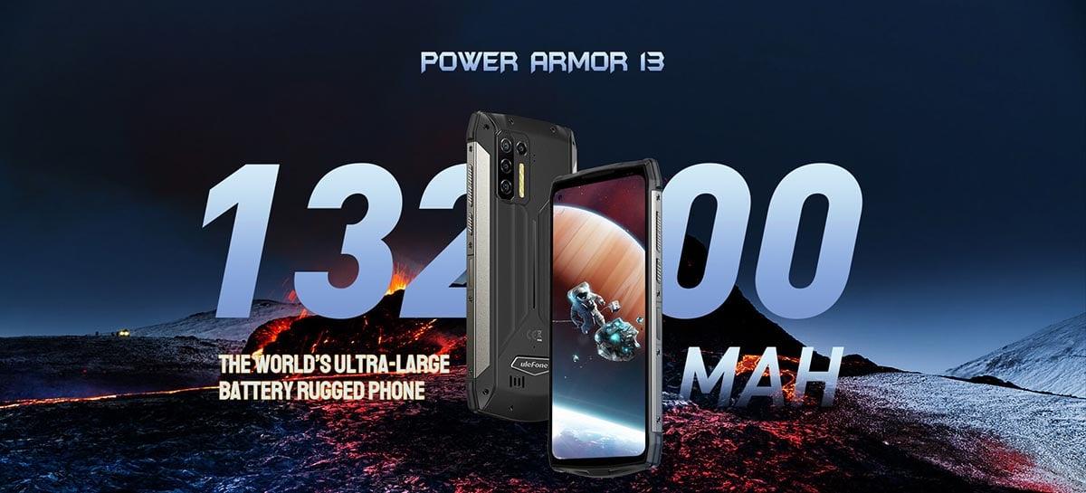 Novo smartphone Ulefone Armor 13 vem com bateria de 13.200 mAh