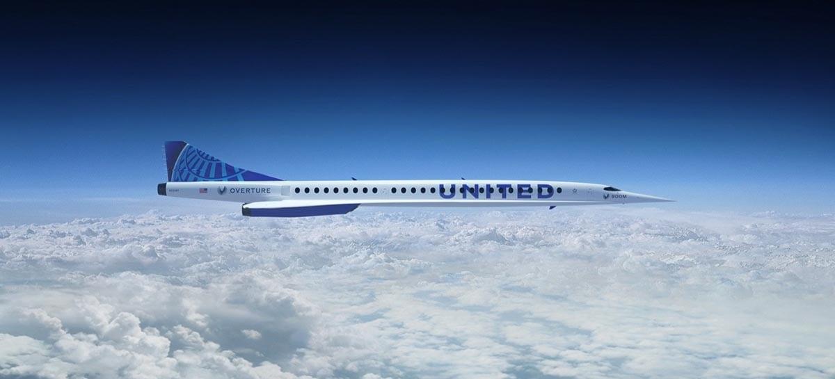 United Airlines vai comprar 15 jatos supersônicos da Boom Supersonic