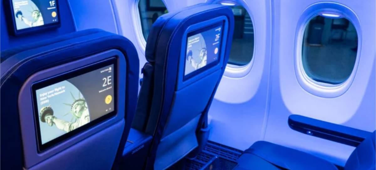 Novos aviões da United permitem que você use seu próprio fone Bluetooth a bordo