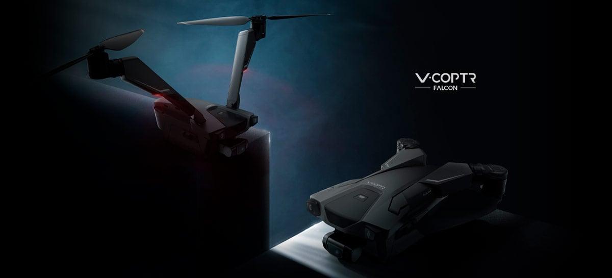 Drone V-Coptr Falcon com apenas 2 hélices e 50 minutos de voo será lançado?