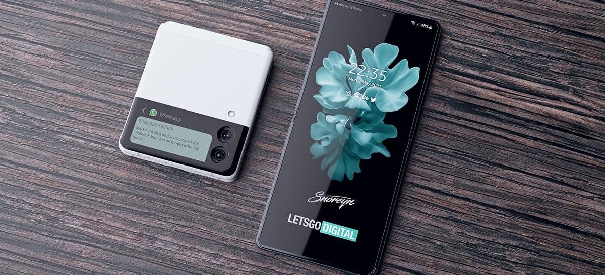 Veja as artes conceituais dos novos Galaxy Z Fold 3 e Galaxy Z Flip 3