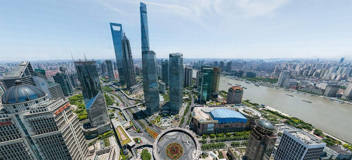 Veja fotos de Xangai em incríveis 195 megapixels em 360º