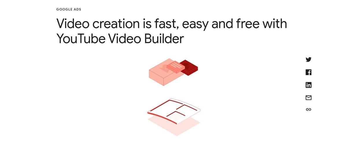 Youtube lança Video Builder, ferramenta de baixo custo para criação de vídeos