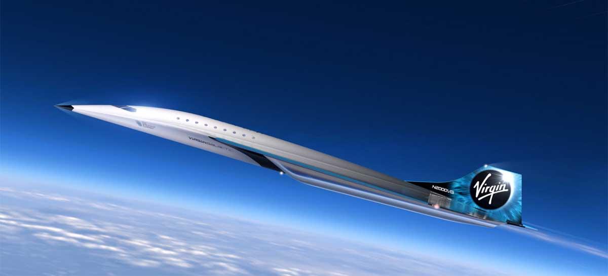 Virgin Galactic revela avião supersônico Mach 3 que pode chegar a 3.700 km/h