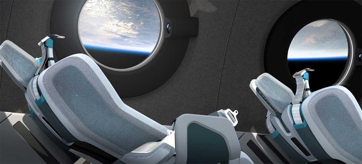 Virgin Galactic mostra cabine de sua espaçonave com janelas para selfie