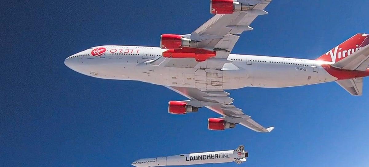 Virgin Orbit realiza teste lançando foguete a partir de um Boeing 747