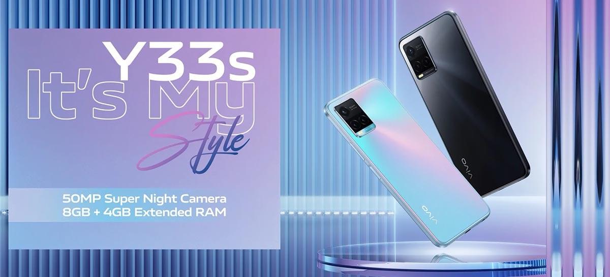 Vivo Y33s é revelado com chipset Helio G80 e câmera de 50 MP