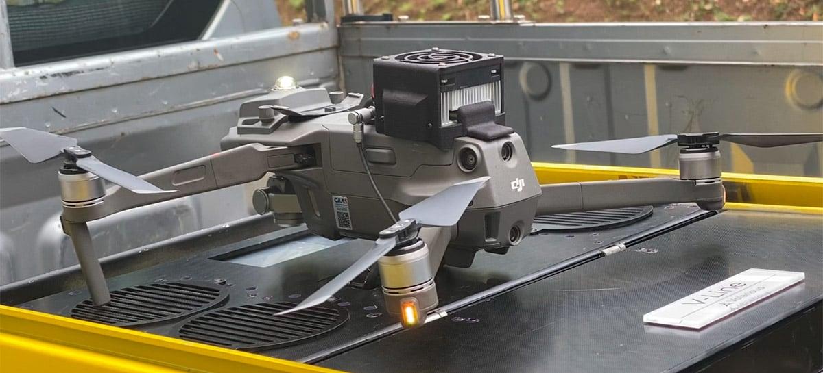 Drone com fio? V-Scout oferece novos usos ao Mavic 2 ao ligar o drone a uma caixa