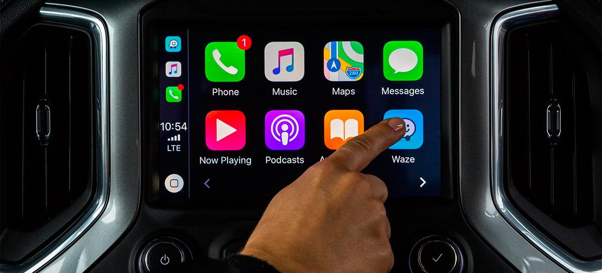 Suporte da Waze para tela divida no CarPlay já está em fase de testes