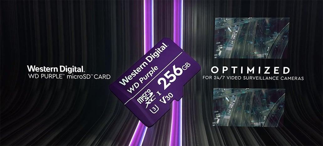 WD Purple SC QD312 é o novo cartão microSD para câmeras de segurança