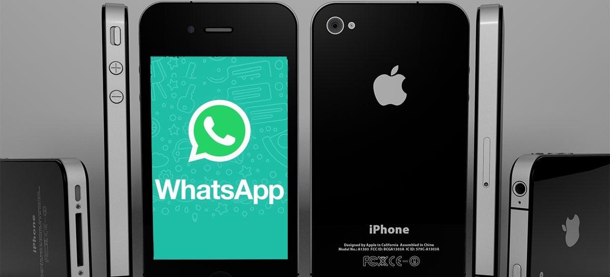 WhatsApp encerra suporte ao iOS 9 - iPhone 4s e mais antigos não rodam mais o app