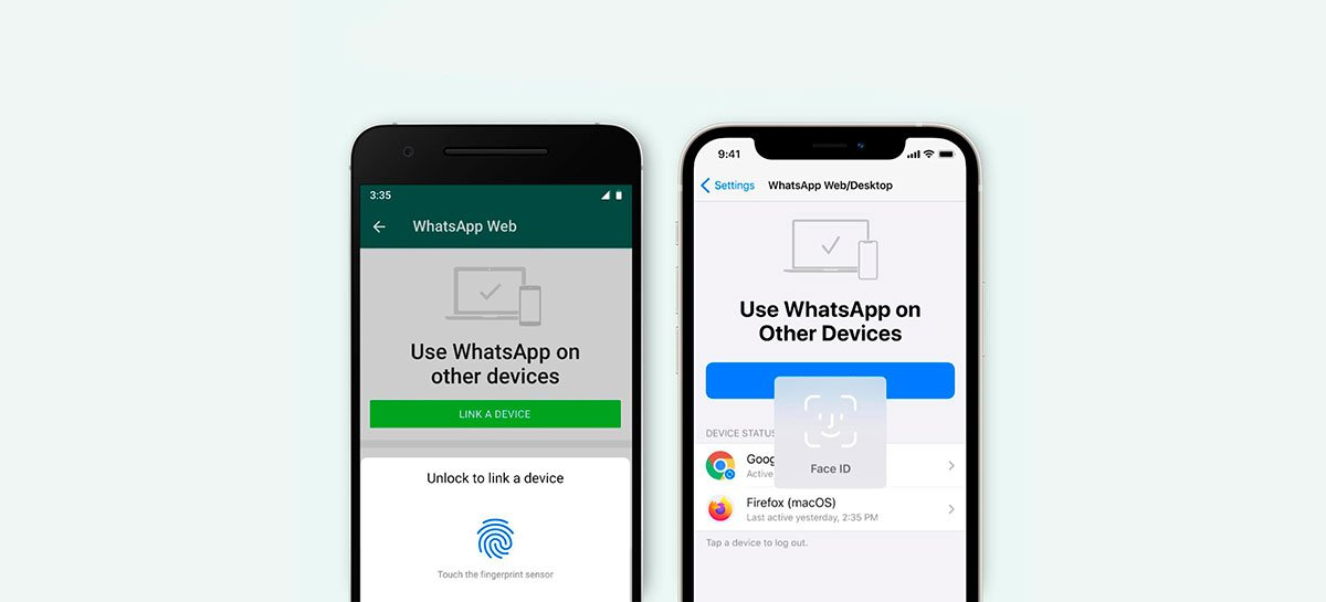WhatsApp passa a exigir autenticação biométrica para utilização das versões Web e PC