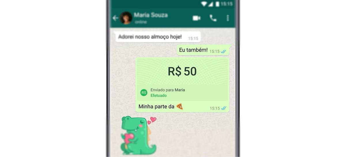 WhatsApp testa novo atalho para pagamentos no Android e iOS
