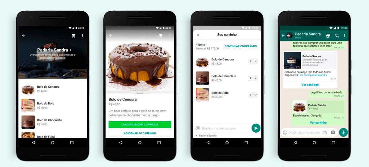 WhatsApp está implementando a função carrinho de compras
