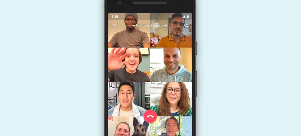 WhatsApp Beta está testando novidades para chamadas de vídeo em grupo