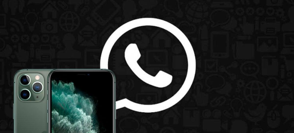 iPhones podem receber modo escuro do WhatsApp na próxima atualização