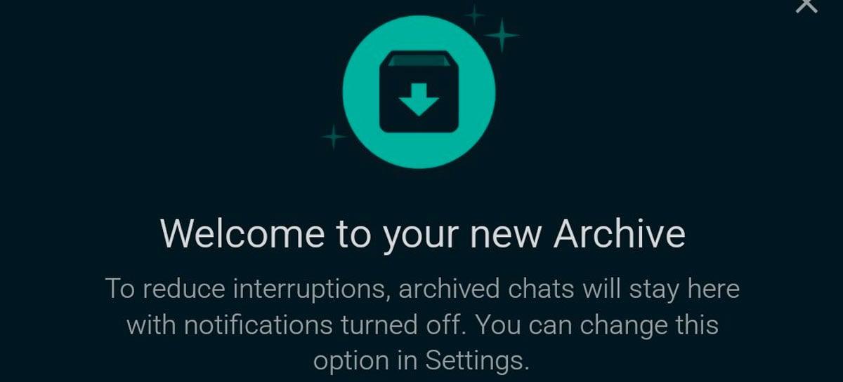 """WhatsApp Beta no iOS testa recurso """"novo arquivo"""" para esconder chats"""