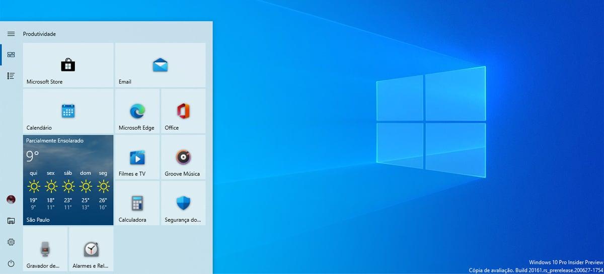 Microsoft anuncia novo design do menu Iniciar do Windows 10 e outras novidades
