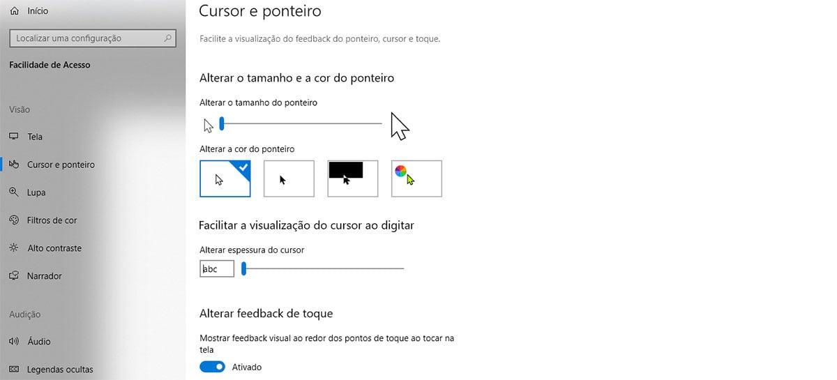 Windows 10 ganha melhorias de acessibilidade nos cursores, leitores de tela e mais