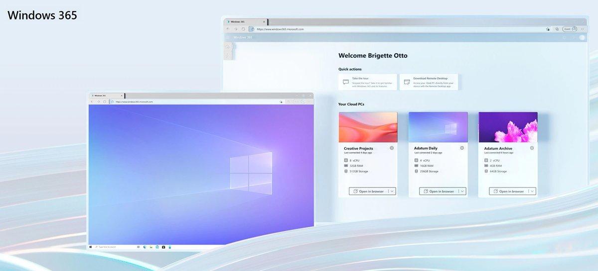 Windows 365 já oferece suporte para Cloud PCs com Windows 11