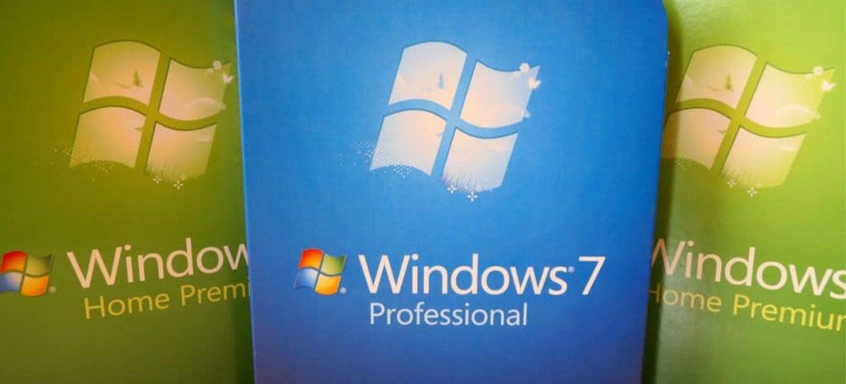 Windows 7 ainda é usado em mais de 100 milhões de PCs, mesmo sem suporte da Microsoft