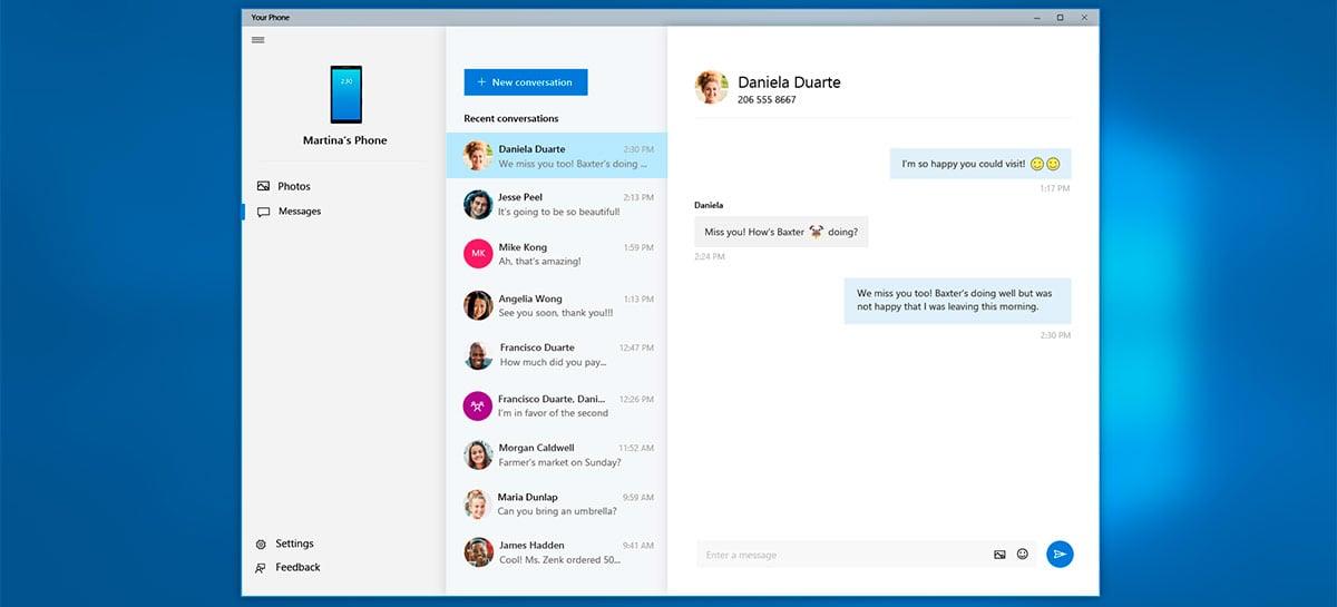 Nova build do Windows Insider traz apps do seu celular para o Your Phone