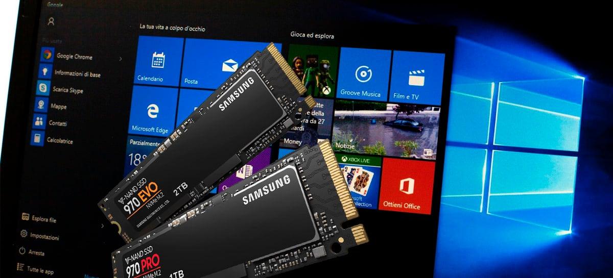 Novo recurso do Windows 10 vai monitorar SSDs NVMe e avisar usuários sobre falhas