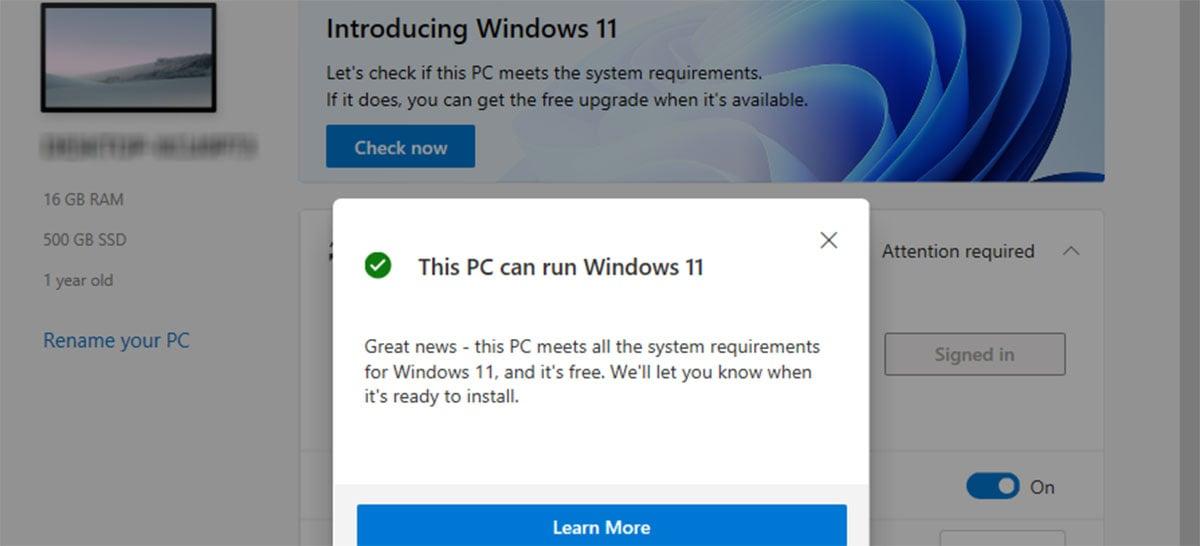 Microsoft considera reduzir requisitos do Windows 11 e remove PC Health Check