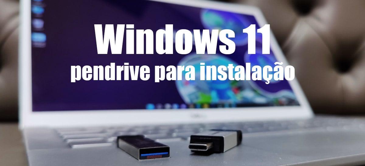 Criando pendrive USB de instalação do Windows 11 - Veja passo a passo